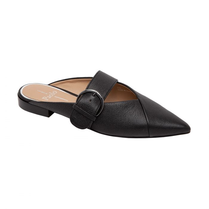 ATHEA | Pointy Toe Tailored Modern Buckle Mule