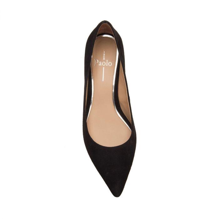 BELLINI | Essential Low Block Heel Pointy Toe Leather or Suede Pump