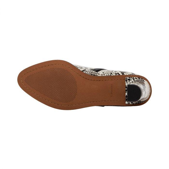 BIEL II   Almond Toe High Heel Bootie with Notched Topline