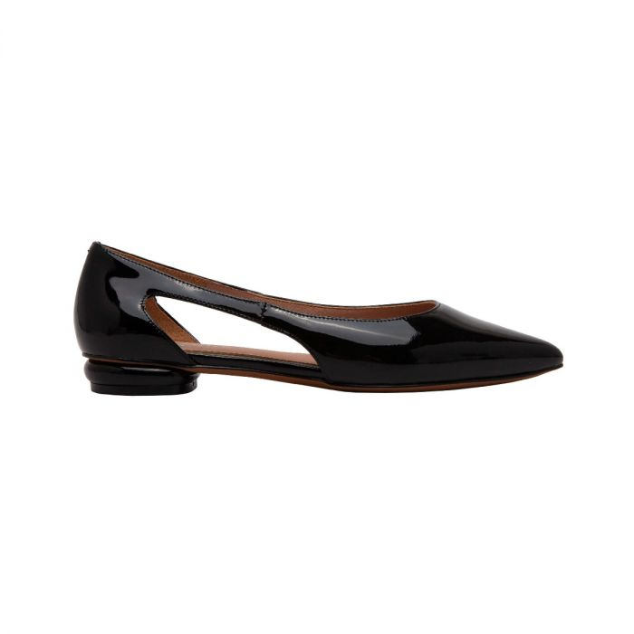 DELPHI | Contemporary Update on a Pointy Toe Flat with a Modern Twist
