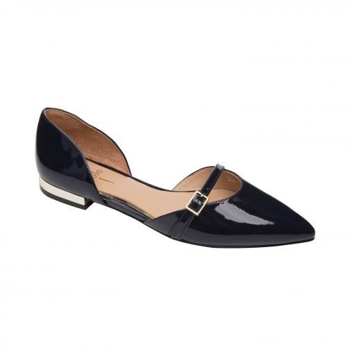 DEMI | Delicate Two Piece Pointy Toe Ballet Flat in Patent or Suede