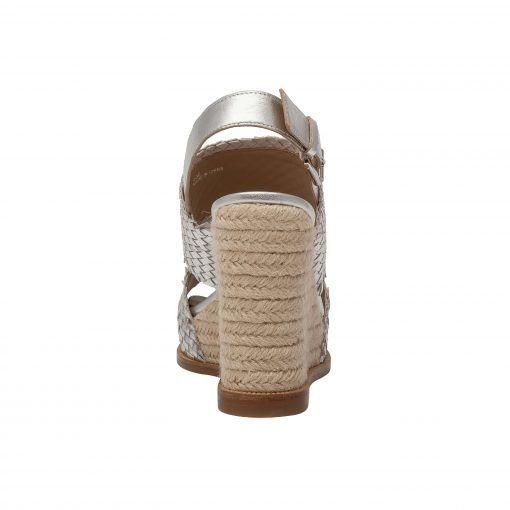 ELAINE | High Plaform Fringed Woven Leather Espadrille Wedge Sandals
