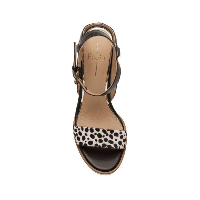 ELLA II | Modern Luxe Hair Calf High Wedge Sport Sandal