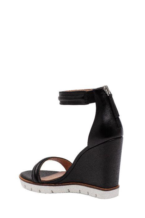 EVYNE   High Wedge Halo Strap Leather Sport Sandals
