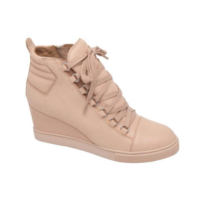 FENTON V| Mid Height Leather or Suede Lace Up Sport Inspired Sneaker Wedge