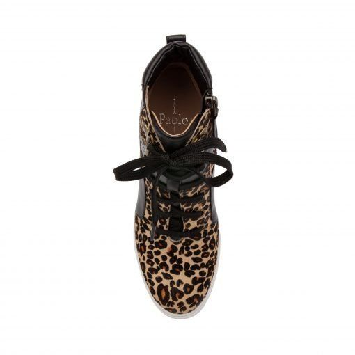 FLEUR II | Sporty Luxe Lace-Up Mid-Height Wedge Sneakers