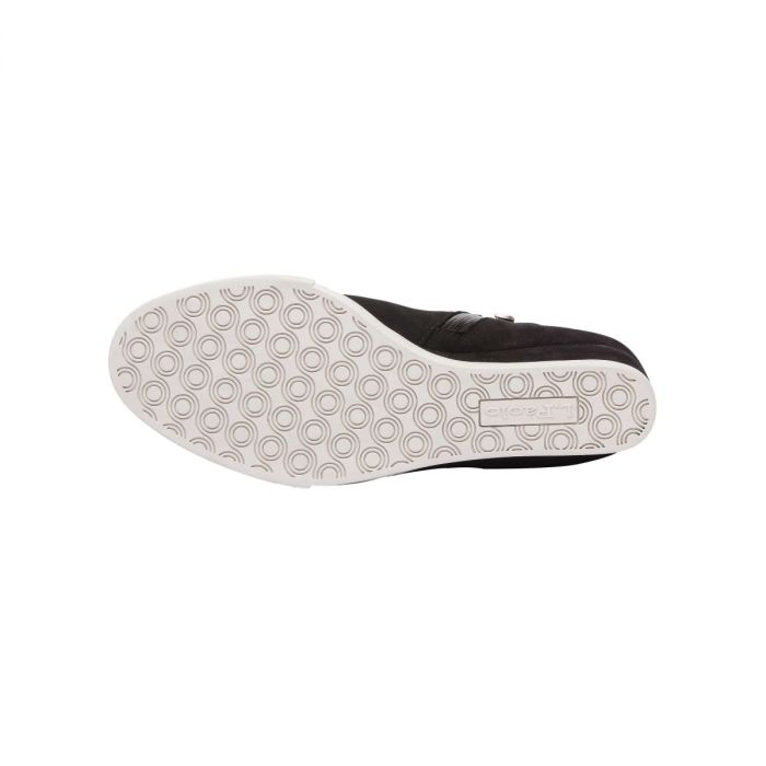 FLO   WATERPROOF Zip-Up Leather Platform Wedge Bootie Sneaker