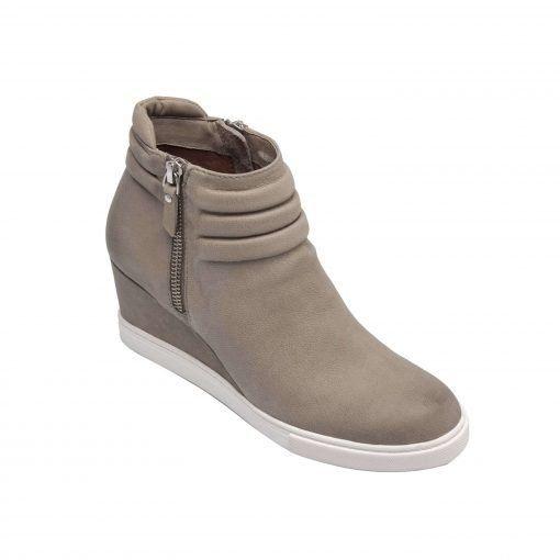 FRIEDA | Zip-Up Wedge Bootie with Sneaker Bottom in Leather or Suede
