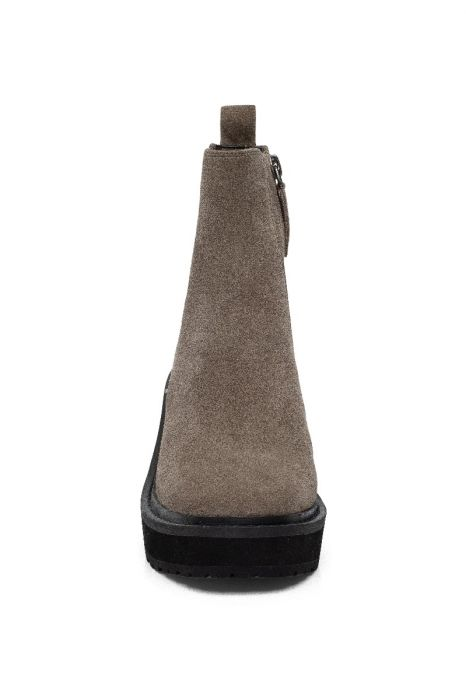 INDIO   Pull-On Low Wedge Heel Chelsea Bootie in Leather or Suede