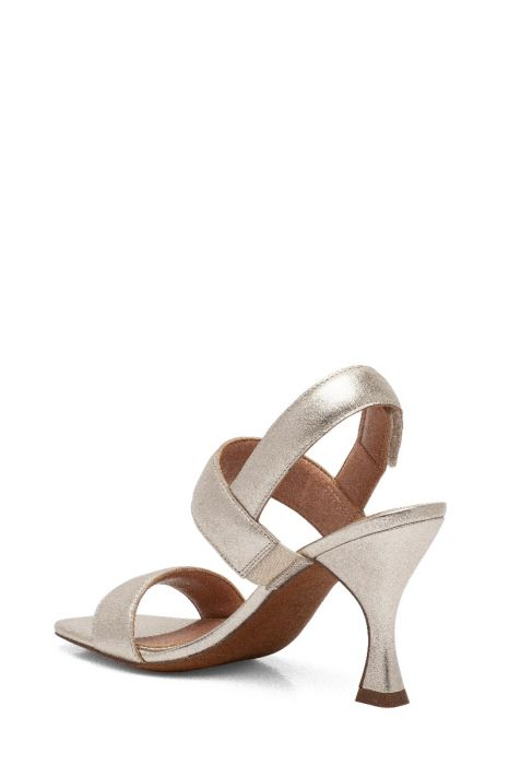 JEAN | Flared Mid-Height Heel Modern Slingback Sandals