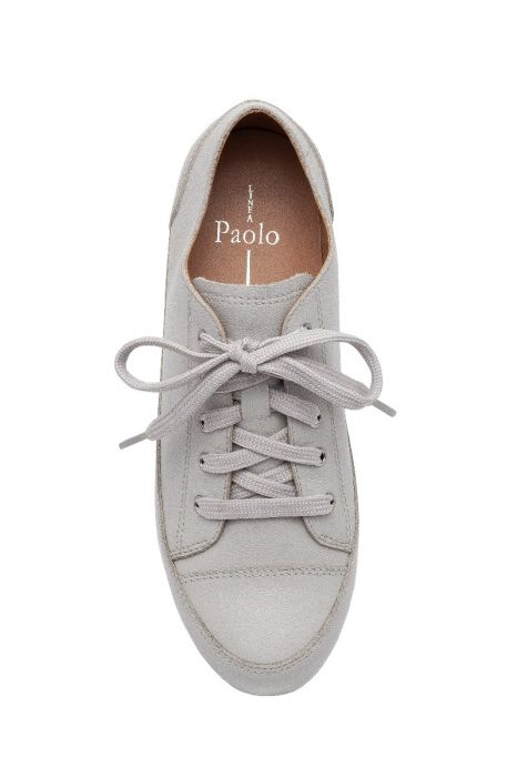 KAMMI   Casual Cap Toe Hidden Lift Leather Lace-Up Sneakers