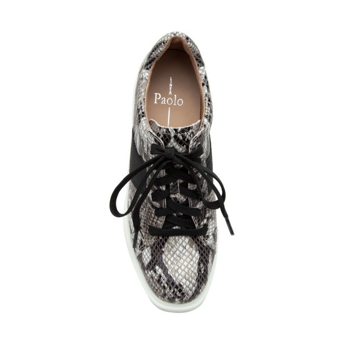 KANDIS II | Sporty Platform Lace Up High Wedge Heel Sneaker