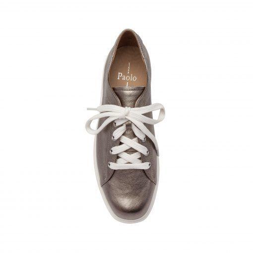 KARRI | Leather Lace Up Designer Platform Wedge Sport Sneaker