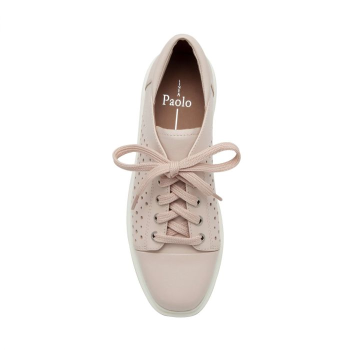 KENDRA | Perforated Leather Lace-Up Platform Sneakers