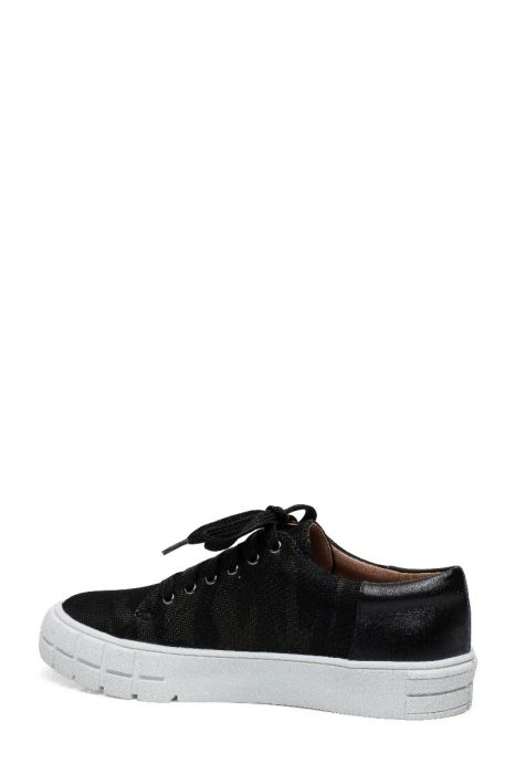 KENZI | On Trend Mixed Media Lace Up Lug Sole Sneakers in Leather Fabric or Suede