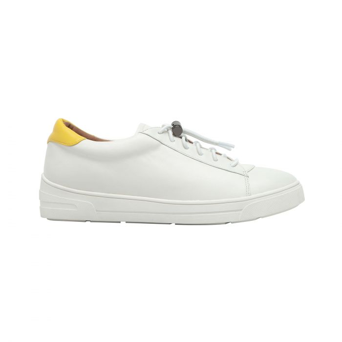KIRBY | Sporty Hidden-Lift Lace-Up Leather Sneakers