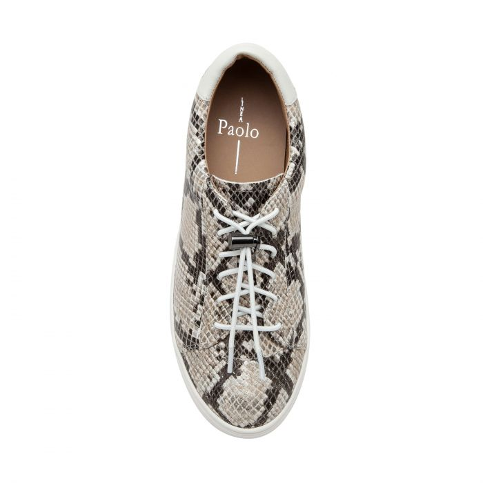 KIRBY II   Sporty Hidden-Lift Lace-Up Leather Sneakers