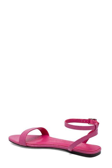 LUELA   Minimalist Strappy Flat Leather Sandals