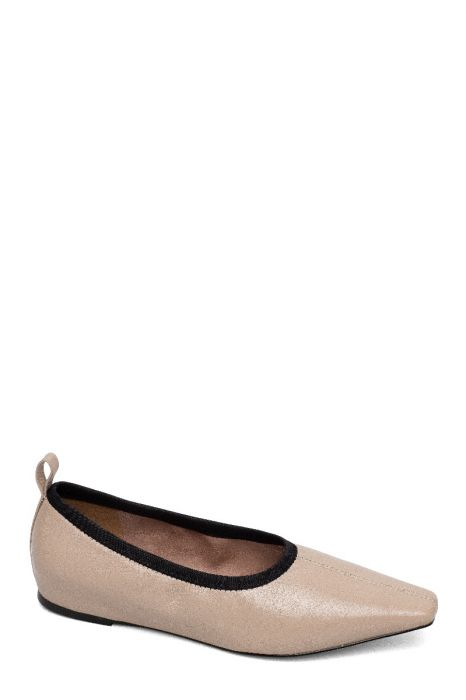 MEGHAN | Svelte Square Toe Hidden Sliver Wedge Ballet Flats Slip-Ons