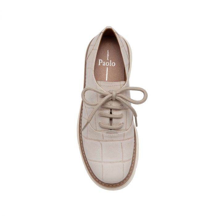 MOIRA | A Luxe Take on a Classic Leather Lace-Up Oxford Done-Up In An Exclusive Neutral Color Palette