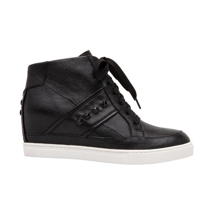 NASH | Streetwear-Inspired Hidden Mid-Height Heel Leather Wedge Sneakers