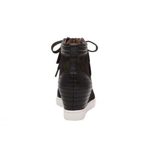 NIYA | Street Style Inspired Hidden Mid-Height Wedge Sneaker with Zipper Details