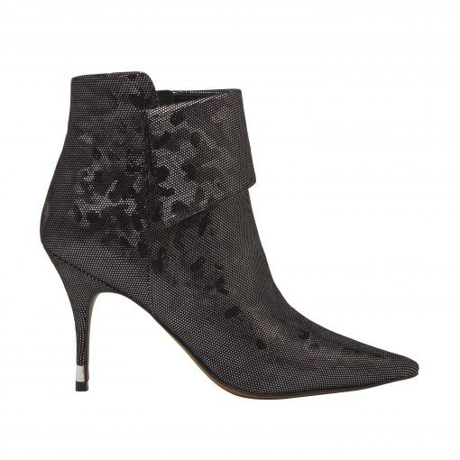 NORTH  II | Svelte Pointy Toe High Stiletto Heel Cuffed Leather Booties