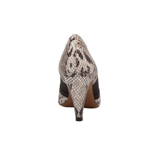 OAKLI II   Retro Luxe Redux Leather Pointy Toe High Cone Heel Illusion Pump