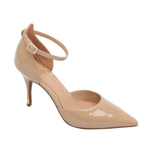 PAGE | A Striking Two Piece Halo Strap Pump with Dramatic Pointy Toe