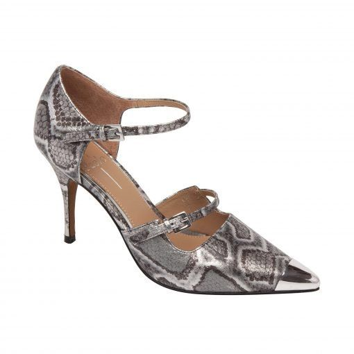 PAZ II   Flirty High Heel Stiletto Pump with Delicate Buckle Straps in Supple Leather or Suede