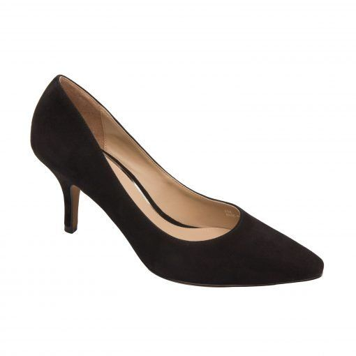 PEGGY   Mid Height Stiletto Heel Pump with Squared Off Pointy Toe