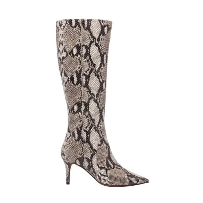 PERFECT II | Pointy Toe Mid Height Stiletto Knee High Leather Suede Boot