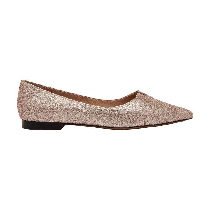 PRESTA | Suede Pointy Toe Notched Vamp Slip-On Flat