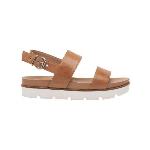 RAYLA | A comfy, modern take on the leather slingback footbed sport sandal