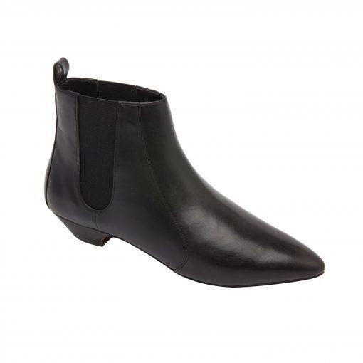 REGAN | Mod Pointy Toe Low Heel Chelsea Ankle Bootie