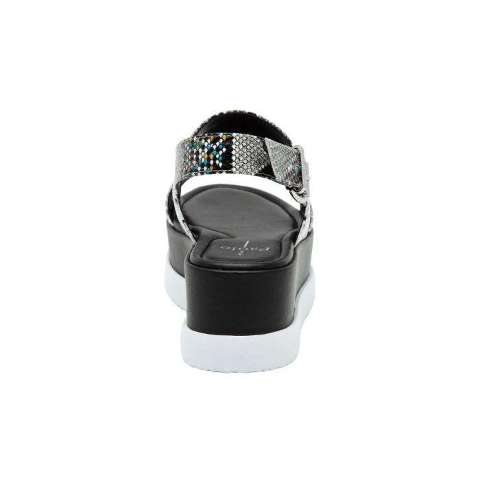 RENZ II   Built-Up Leather Flatform Casual Sport Sandal