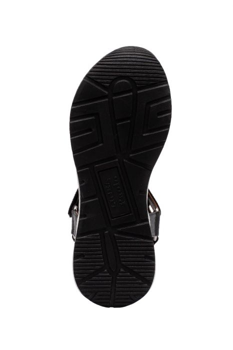 RIO | Sporty Chic Leather Sneaker Sandals on a Bold Trainer Bottom