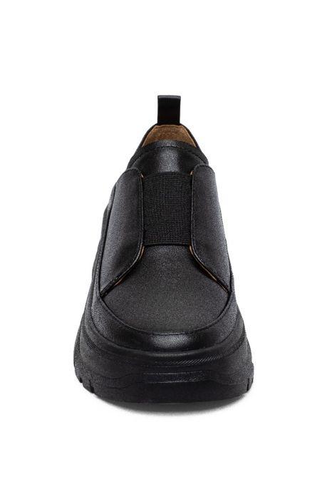 ROSELLE | Built Up Lug Sole Low Hiker Sneakers with Elastic Vamp Gore