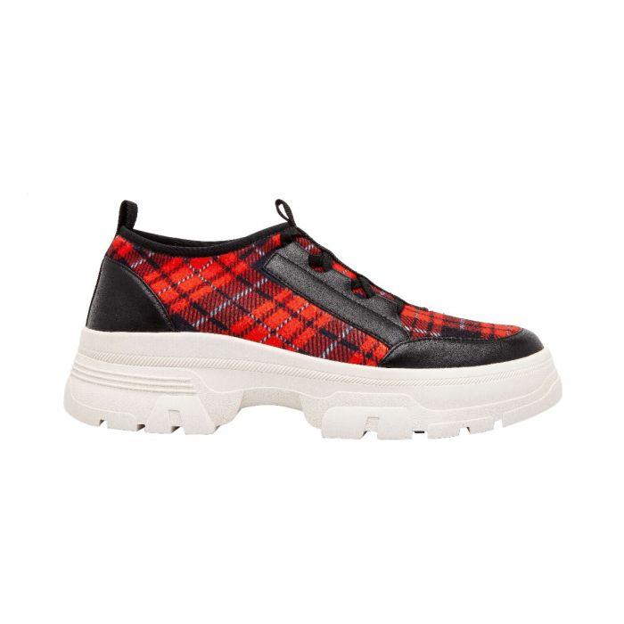 ROWEN | Stretch Fabric Fashion Sneaker with Built-Up Rubber Bottom
