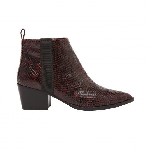 SEVILLA II | Western Inspired Leather Bootie with Low Stack Heel