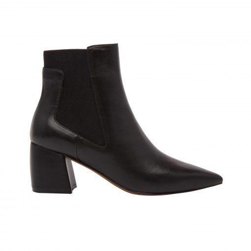SIENNA   Pointy Toe Block Heel Mid Height Chelsea Bootie