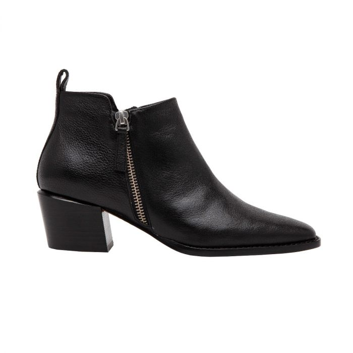 SOCHI | Pointy Toe Stacked Heel Modern Ankle Bootie