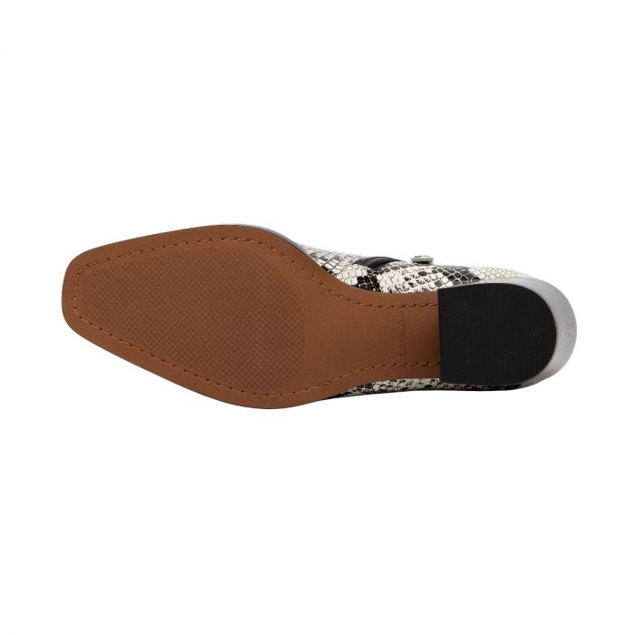 SOCHI II | Pointy Toe Stacked Heel Modern Ankle Bootie