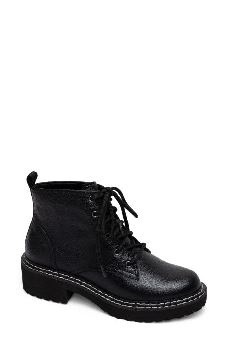 TAYLOR | Casual Lug Sole Lace-Up Leather or Suede Ankle Booties