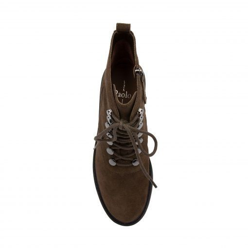 TRINITY   Lace-Up Lug Sole Leather or Suede Bootie