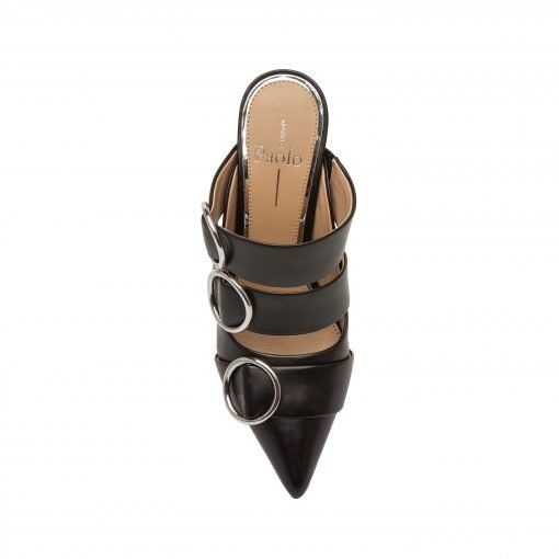 UPTON | Adorned Modern Pointy Toe High Stiletto Suede Mule