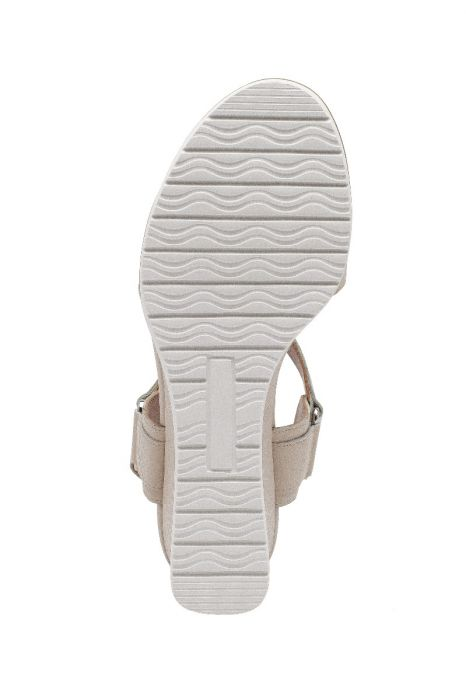 VANESS | Walkable Nubuck or Suede Ankle Strap Mid-Height Wedge Sandals