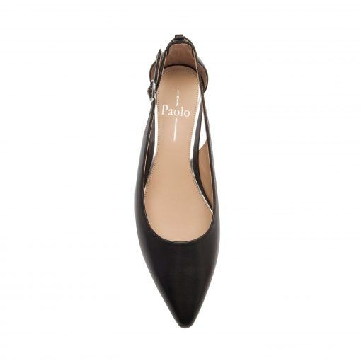 VELIA | Modern Low Wedge Heel Two Piece Pump in Leather or Suede