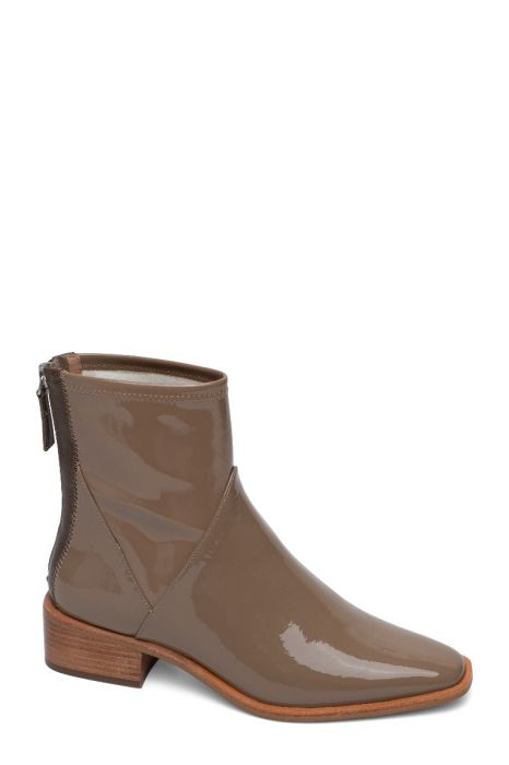 VELORE | Svelte Square Toe Modern Dress Booties in Patent Leather