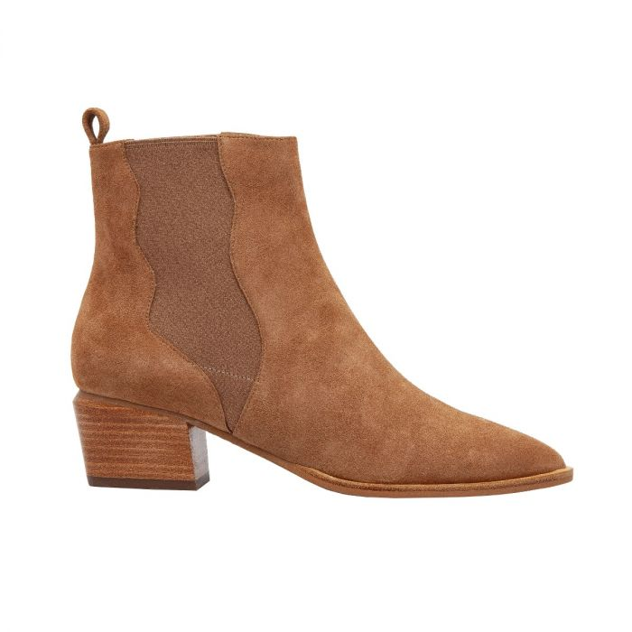 VU | Western Inspired Leather or Suede Mid-Height Pull-On Bootie